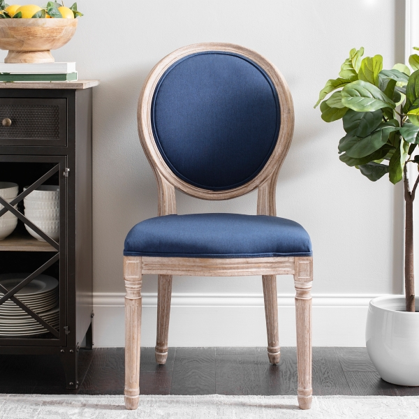 Lovely Navy Louis Dining Chair
