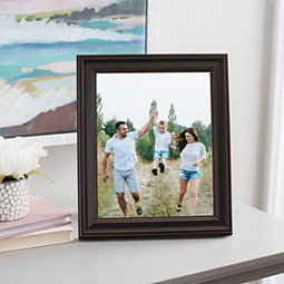 Dark Faux Wood Picture Frame, 8x10