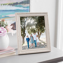White Faux Wood Picture Frame, 8x10