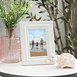 Driftwood Shell Picture Frame, 4x6