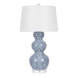 136bdb0ff8c3 Triple Gourd Swirls Ceramic Table Lamp