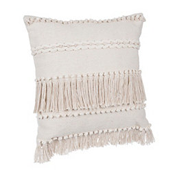 Home, Furniture & Diy Unusual Vintage Heavy Cream Throw With Lattice Rope Fringing Home Decor
