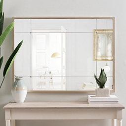 5b0230883338 Rose Gold Eleanor Panel Wall Mirror
