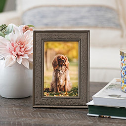 573291a41a0 Dark Gray Embossed Print Picture Frame