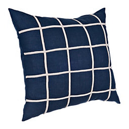 0e191ea176e Navy Corded Grid Pillow
