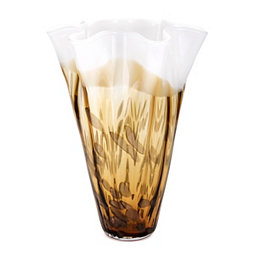 Ombre Brown Glass Vase