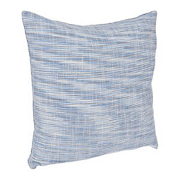 Solid Blue Textured Colette Pillow