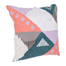 Multicolor Tanek Textured Pillow