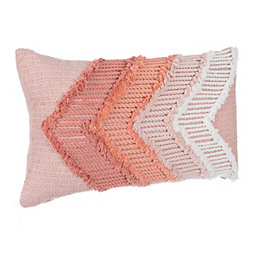 Peach Rimmer Ombre Accent Pillow