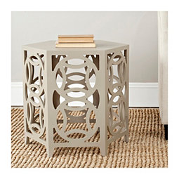 Taupe Tanya Interlocking Circle Accent Table