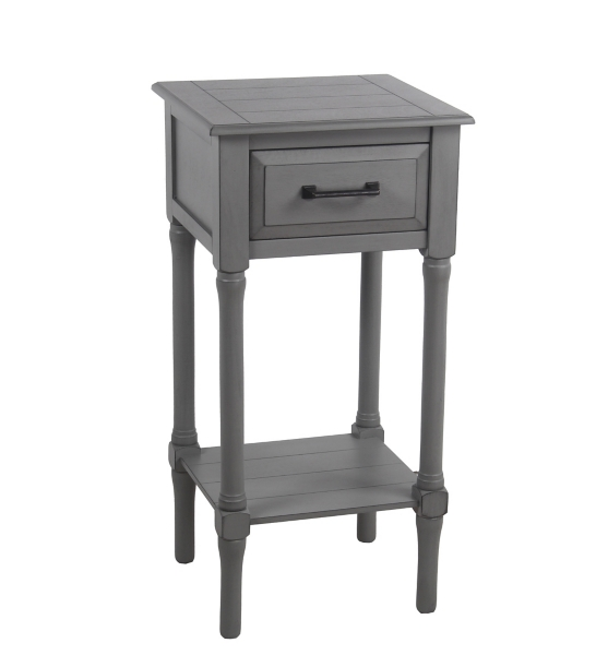 Gray Scarlett 1 Drawer Accent Table