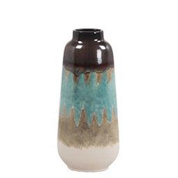 Blue Ceramic Vase 18 In