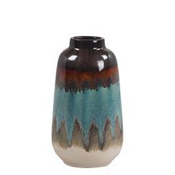 Blue Ceramic Vase 12 In