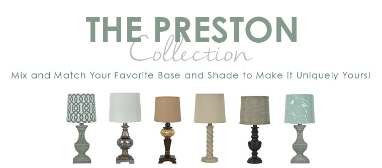 The Preston Collection - Mix and Match Your Favorite Base and Shade to Make it Uniquely Yours!