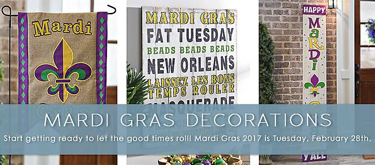 Mardi Gras Decorations - Start getting ready to let the good times roll! Mardi Gras 2017 is Tuesday, February 28th.