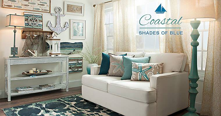 coastal decor beach decor kirklands On living room ideas kirklands