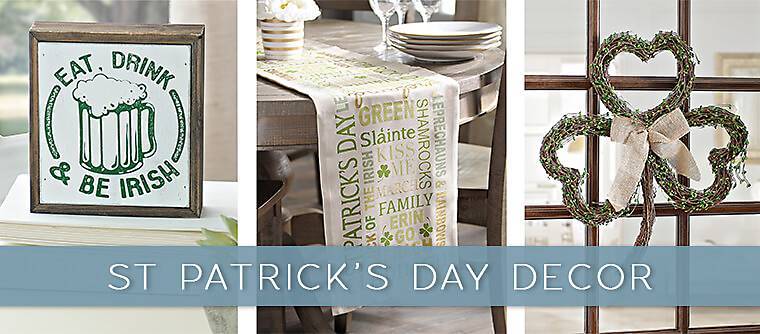 St. Patrick's Day decor - Kirkland's has the decor to show off your luck of the Irish!