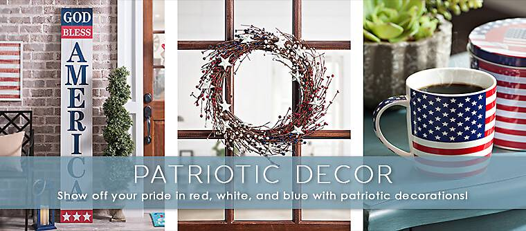 Charming Patriotic Decorations   Show Off Your Pride In Red, White And Blue With Patriotic  Decorations