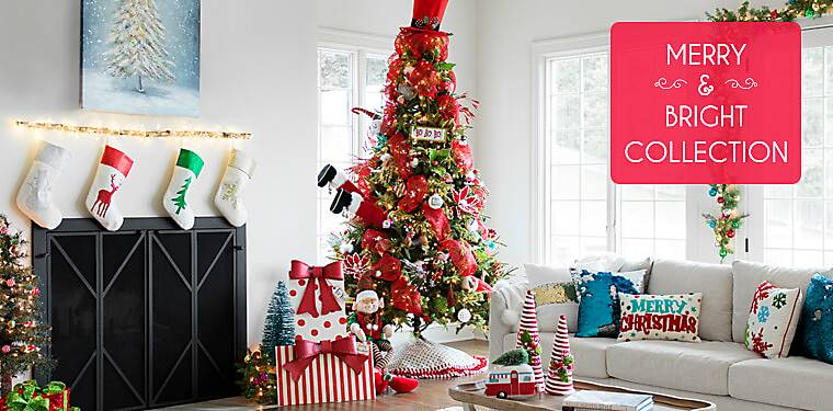 Colorful Christmas Decorations. Merry And Bright Collection