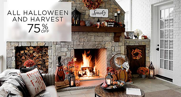 75% off Harvest and Halloween