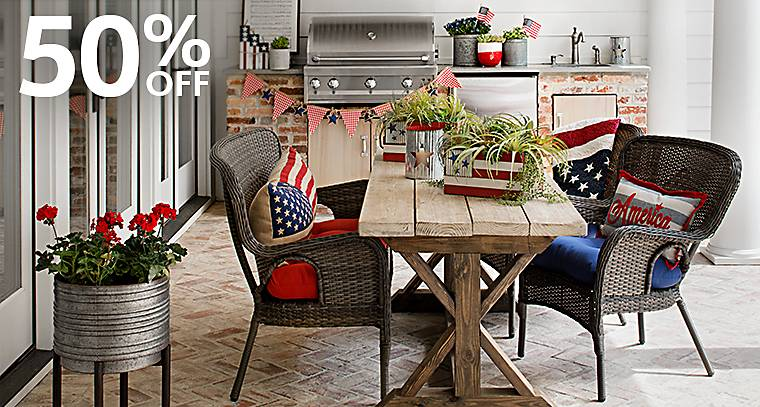 50% off Patriotic Decorations - Show off your pride in red, white and blue with patriotic decorations!
