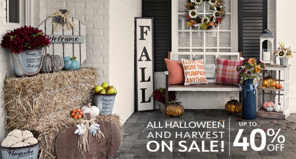 40% off Harvest and Halloween