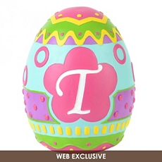 Monogram T Easter Egg Statue