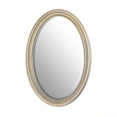 Beaded Oval Wall Mirror, 21x31 at Kirkland's