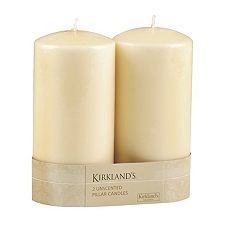 Ivory Pillar Candle, 2pk at Kirkland's