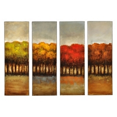 Four Seasons Canvas Print, Set of 4 at Kirkland's