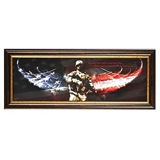 No Greater Love, Soldier Framed Print at Kirkland's