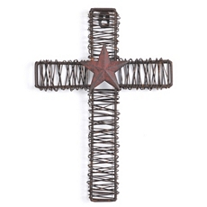 Rustic Metal Star Cross Plaque at Kirkland's