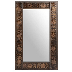 Brown Medallion Mirror at Kirkland's