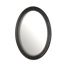 Distressed Black Oval Mirror, 21x31 at Kirkland's