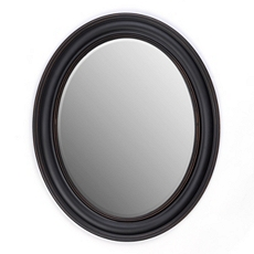 Black Oval Mirror, 28x34 at Kirkland's