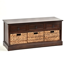 Brown Storage Bench at Kirkland's