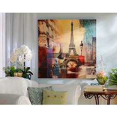 Eiffel Tower City Canvas Print at Kirkland's