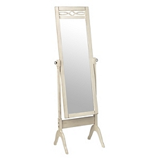 Antique White Cheval Floor Mirror at Kirkland's