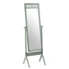 Distressed Blue Cheval Floor Mirror at Kirkland's