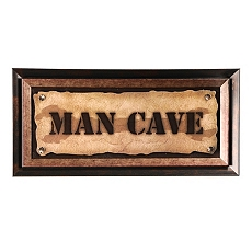 Man Cave Plaque at Kirkland's