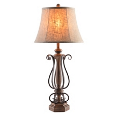 Dark Bronze Metal Curls Table Lamp at Kirkland's