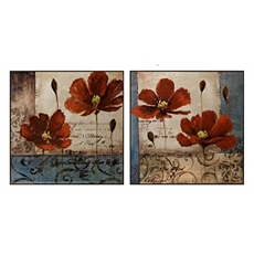 Pops of Red Wall Art, Set of 2 at Kirkland's