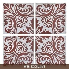 Wood Red Morocco Wall Art, Set of 4 at Kirkland's