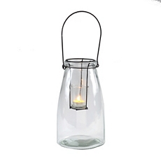 Clear Glass Lantern at Kirkland's