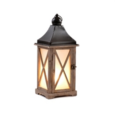Natural Wood Lantern Lamp at Kirkland's