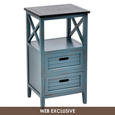 Wood Blue Side Table at Kirkland's