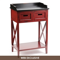 Wood Red 2-Drawer Console Table at Kirkland's
