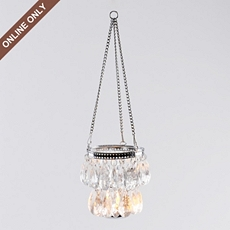 Clear Jeweled Hanging Candle Holder at Kirkland's