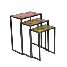 Metal Floral Nesting Table, Set of 3 at Kirkland's
