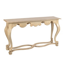 Wood Ivory Larchmont Console Table at Kirkland's